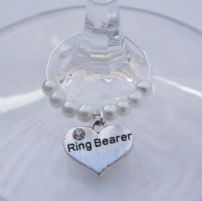 Ring Bearer Wine Glass Charms
